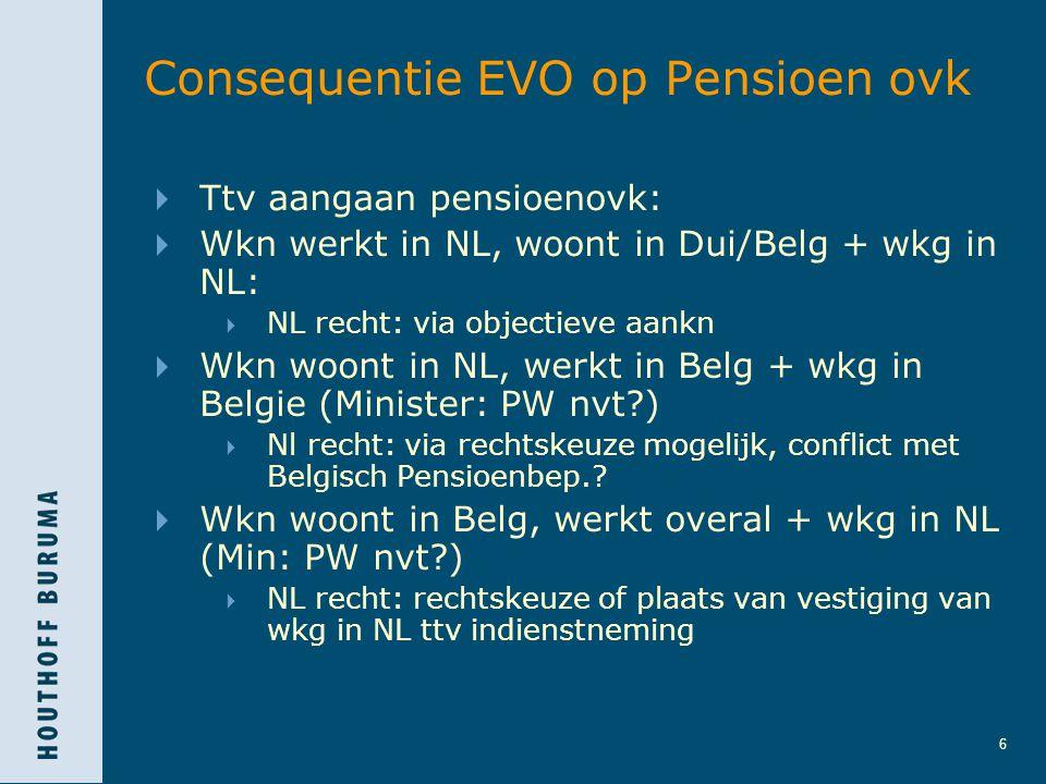 Consequentie EVO op Pensioen ovk