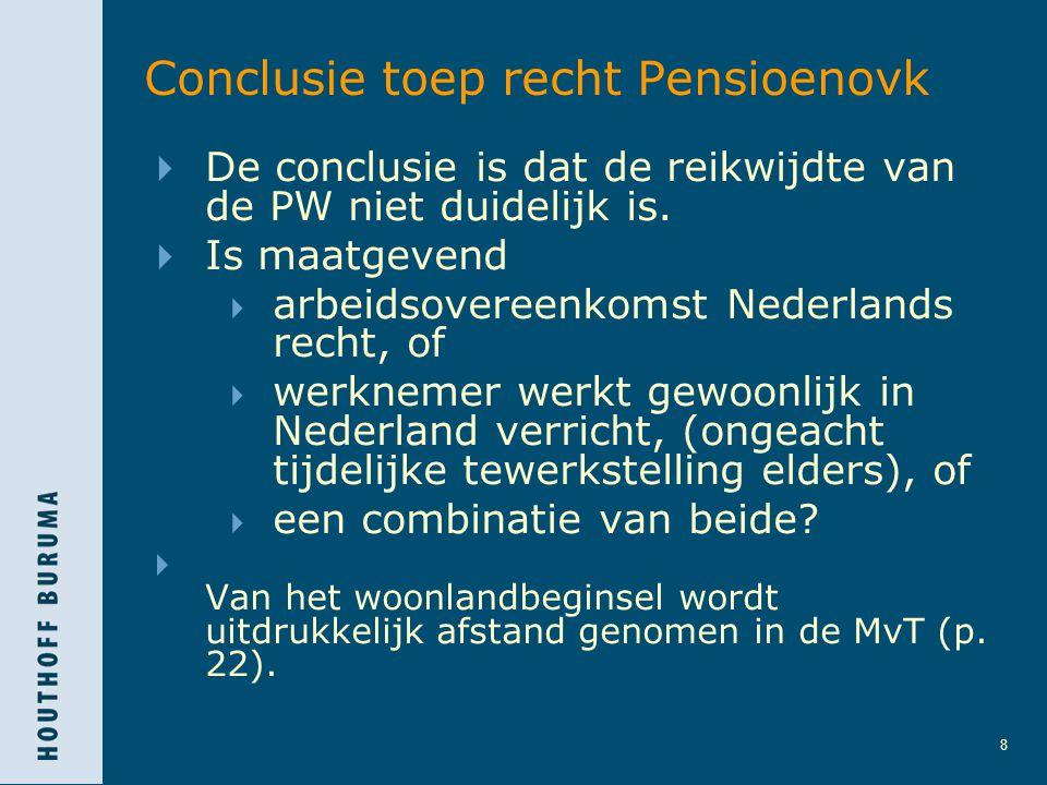 Conclusie toep recht Pensioenovk