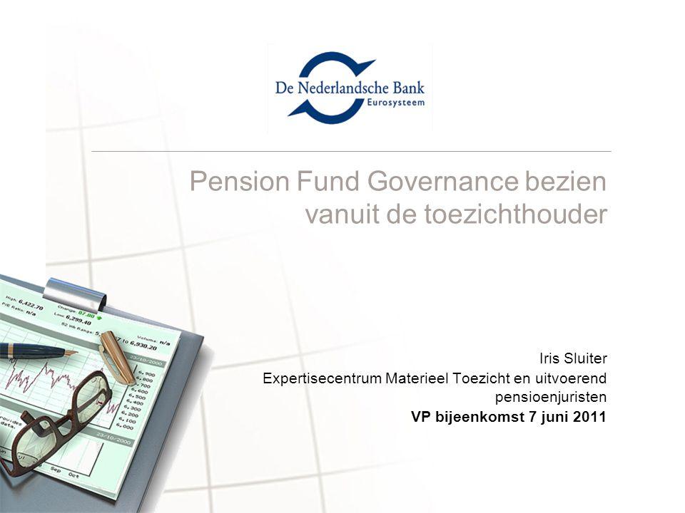 Pension Fund Governance bezien vanuit de toezichthouder