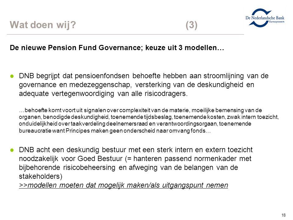 Wat doen wij (3) De nieuwe Pension Fund Governance; keuze uit 3 modellen…