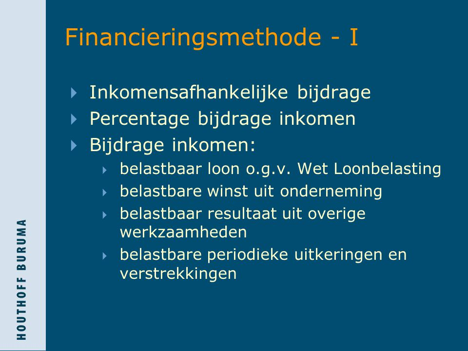 Financieringsmethode - I