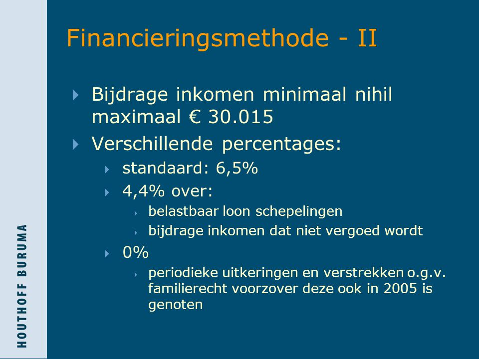 Financieringsmethode - II