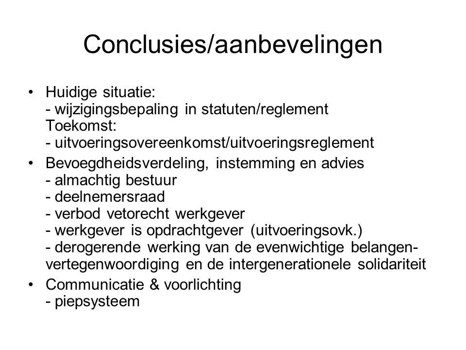 Conclusies/aanbevelingen