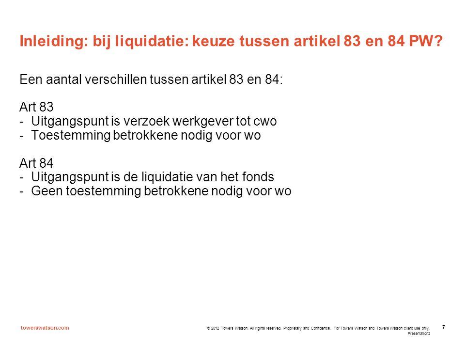 Inleiding: bij liquidatie: keuze tussen artikel 83 en 84 PW