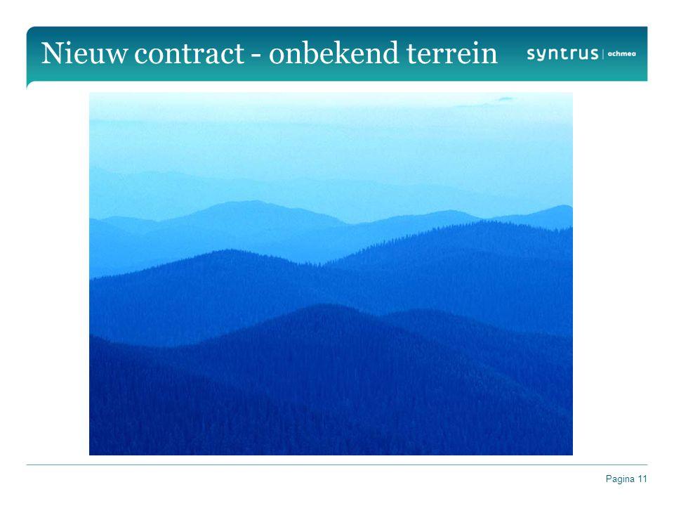Nieuw contract - onbekend terrein