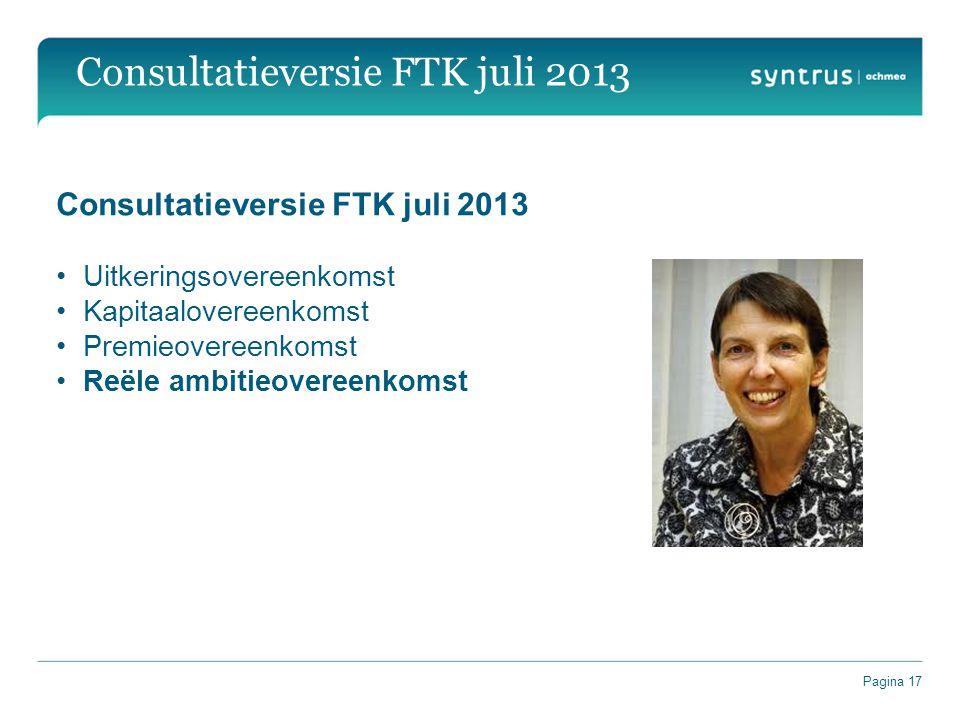 Consultatieversie FTK juli 2013