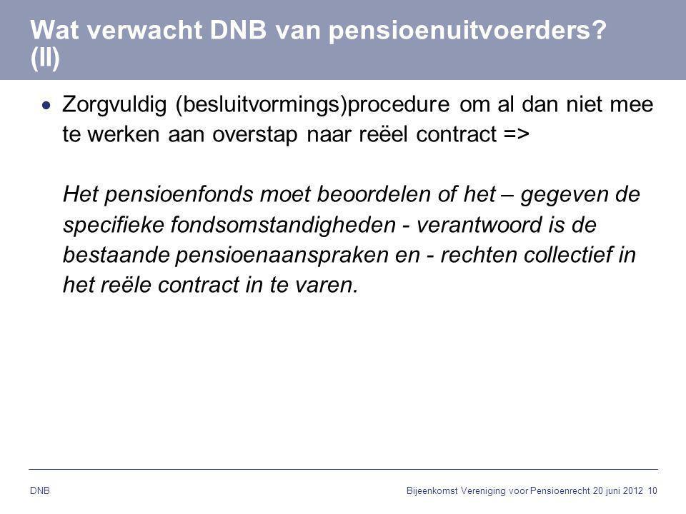 Wat verwacht DNB van pensioenuitvoerders (II)