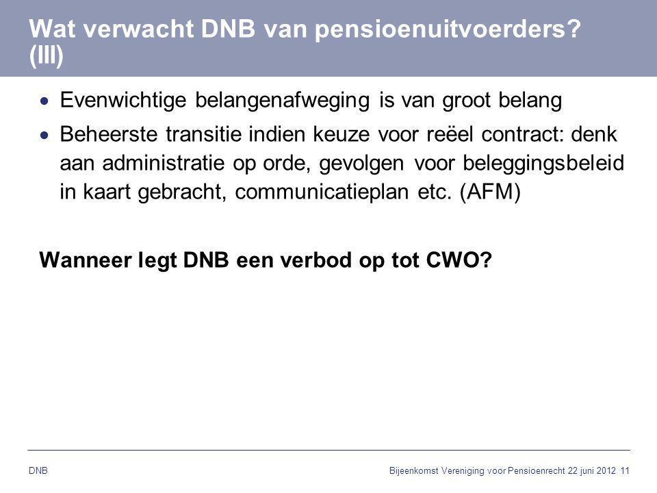 Wat verwacht DNB van pensioenuitvoerders (III)