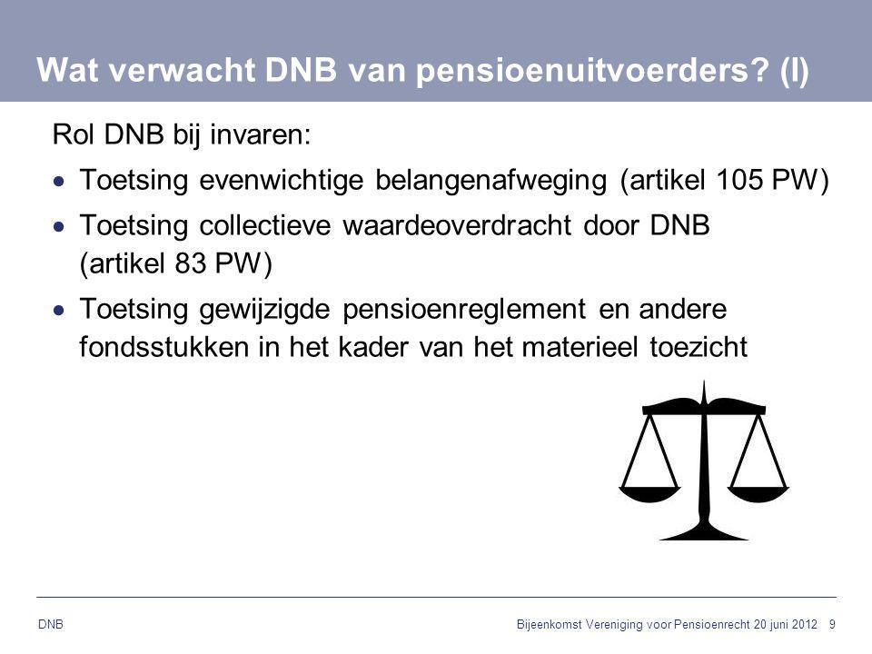 Wat verwacht DNB van pensioenuitvoerders (I)