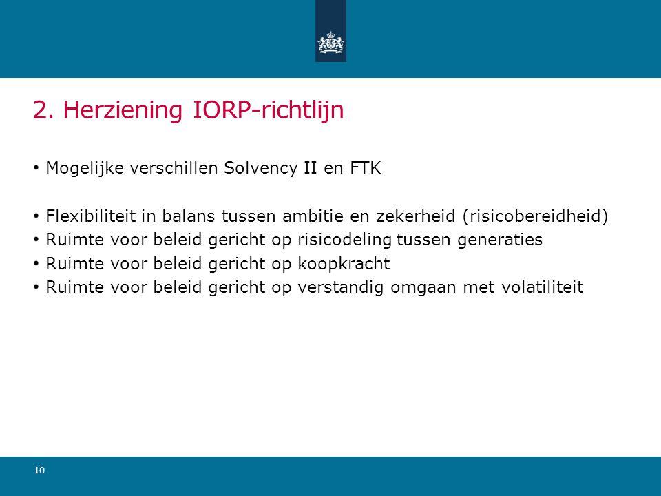 2. Herziening IORP-richtlijn