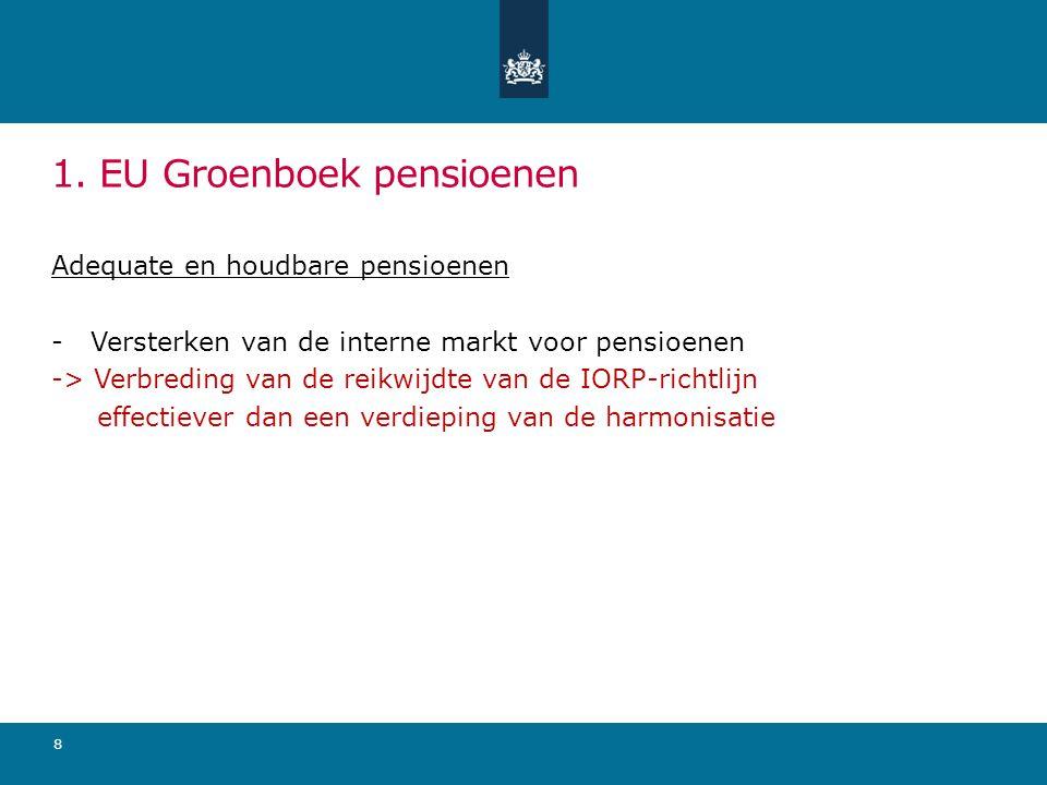 1. EU Groenboek pensioenen