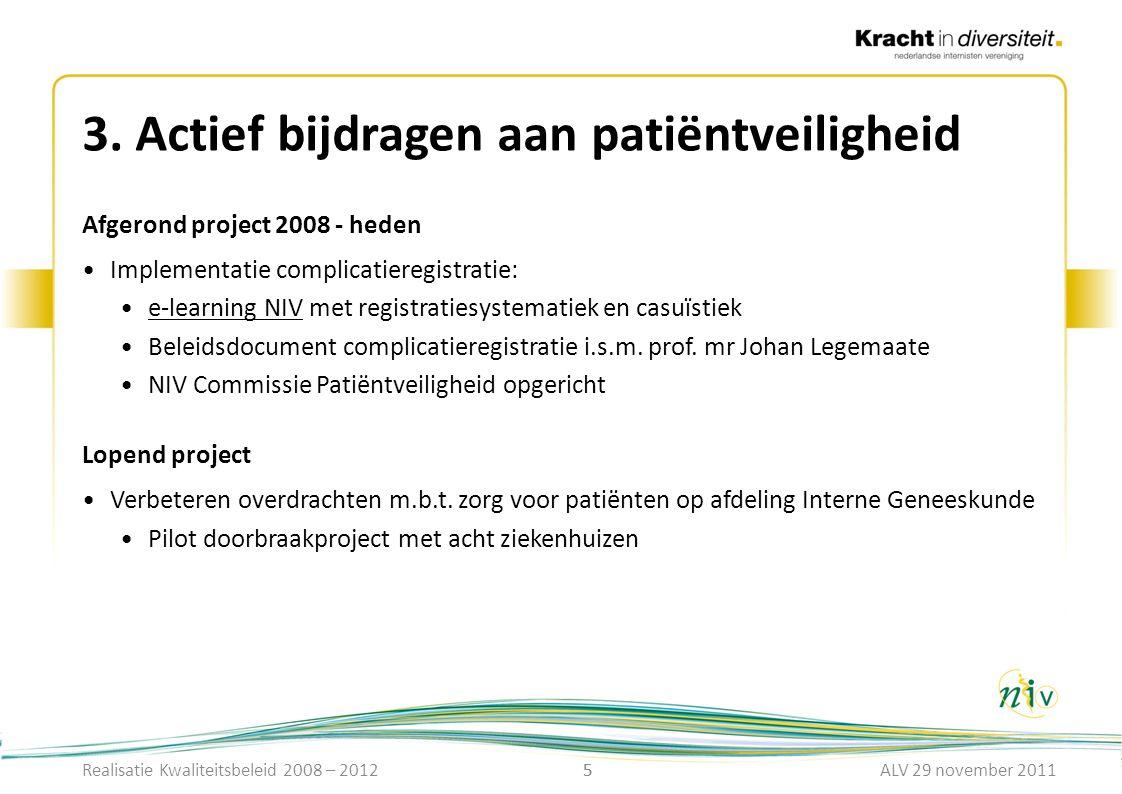 3. Actief bijdragen aan patiëntveiligheid