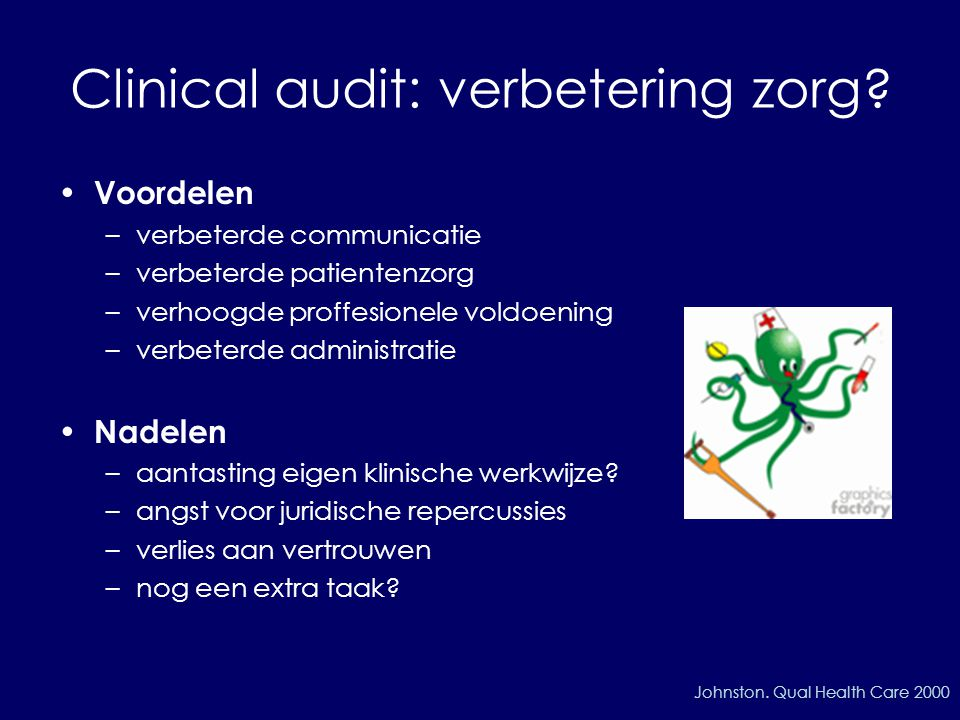 Clinical audit: verbetering zorg