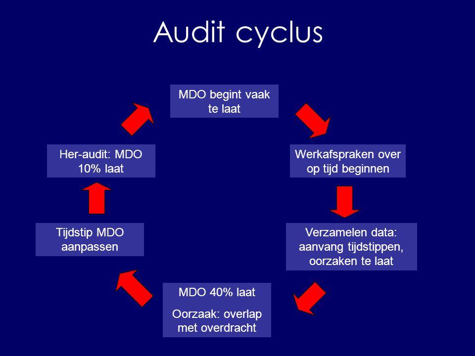 Audit cyclus probleem/doel richtlijn kiezen her-audit