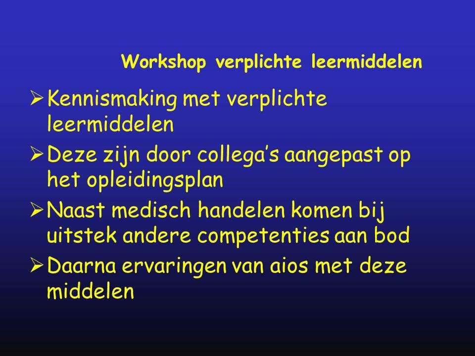 Workshop verplichte leermiddelen