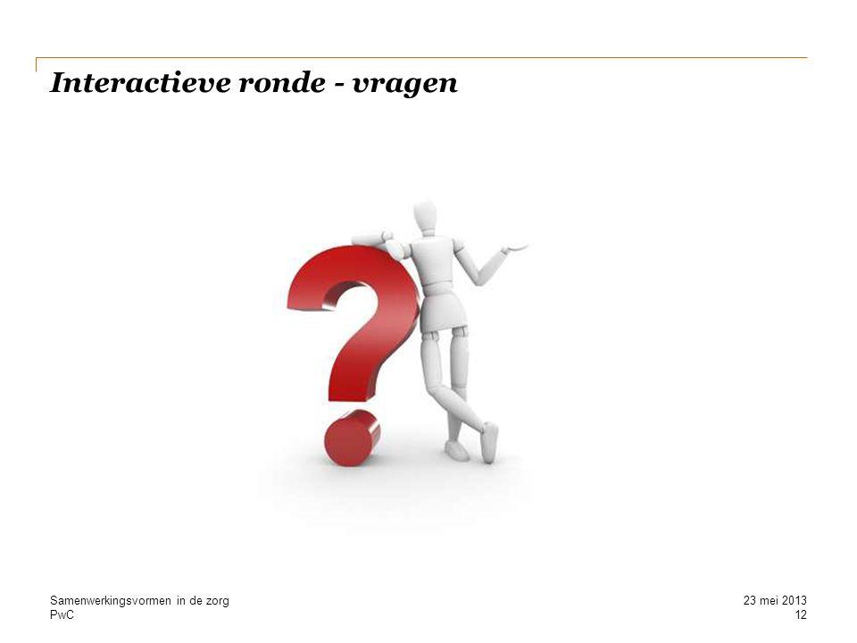 Interactieve ronde - vragen