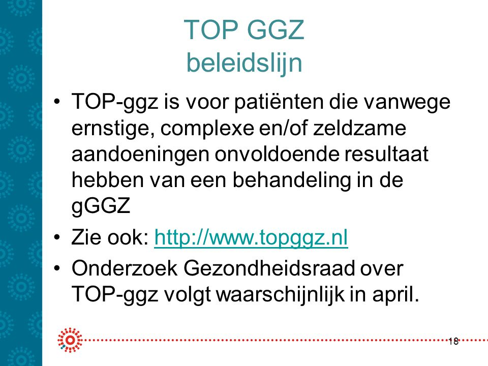 TOP GGZ beleidslijn