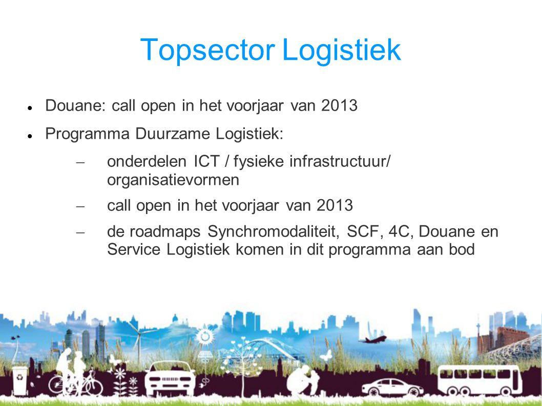 Topsector Logistiek Douane: call open in het voorjaar van 2013