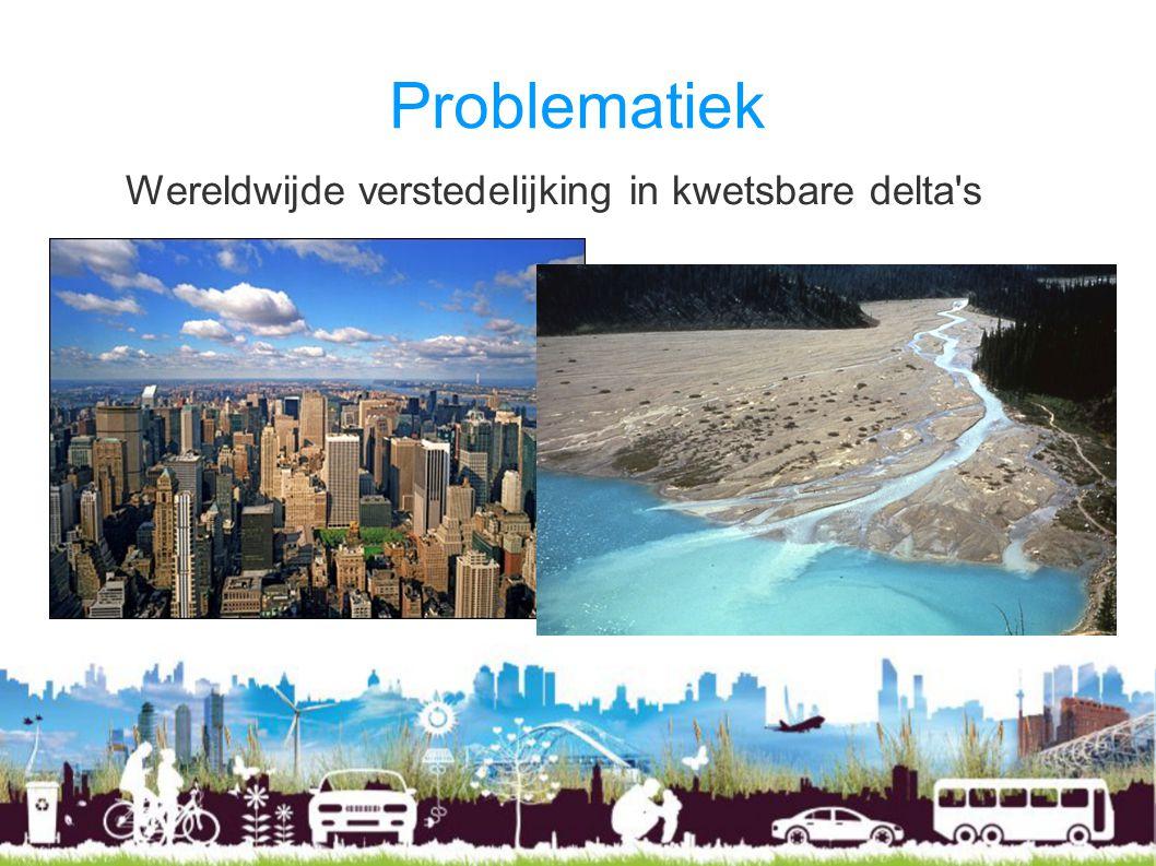 Problematiek Wereldwijde verstedelijking in kwetsbare delta s