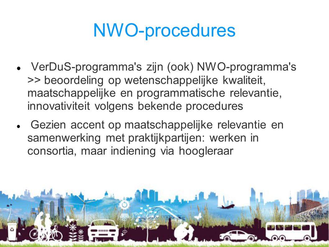 NWO-procedures