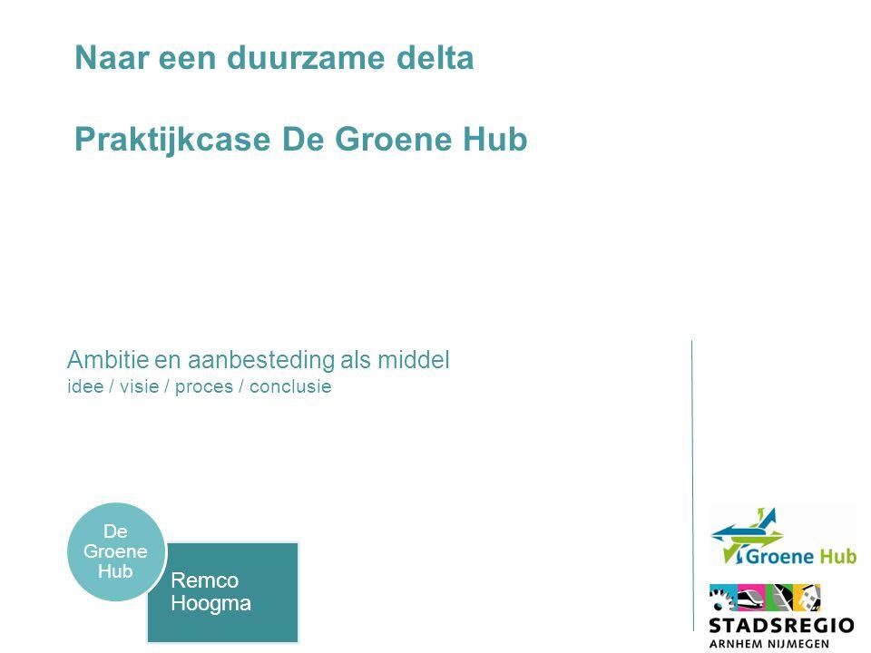 Naar een duurzame delta Praktijkcase De Groene Hub