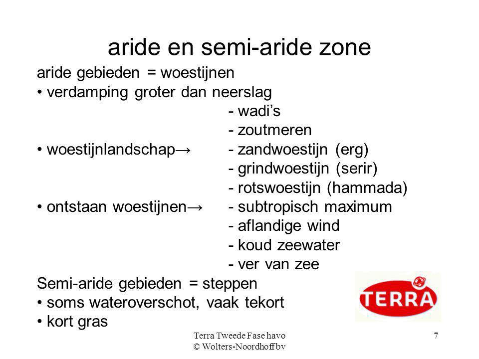 aride en semi-aride zone