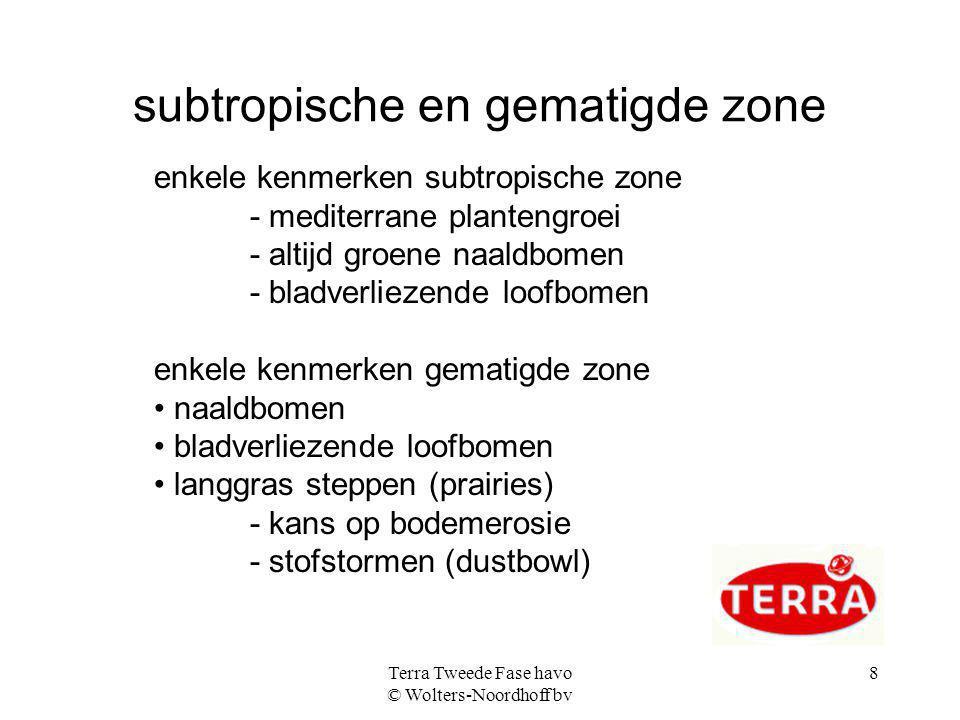 subtropische en gematigde zone