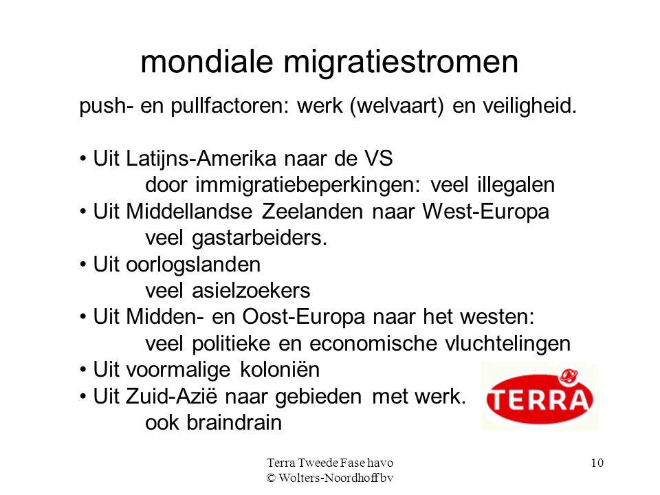mondiale migratiestromen