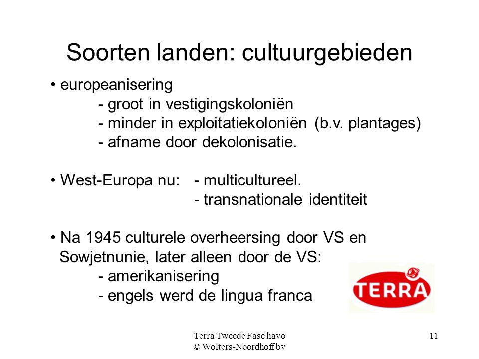 Soorten landen: cultuurgebieden