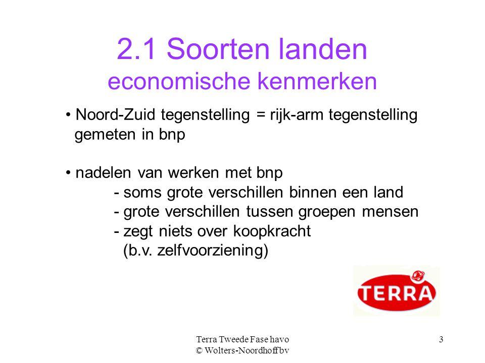 2.1 Soorten landen economische kenmerken