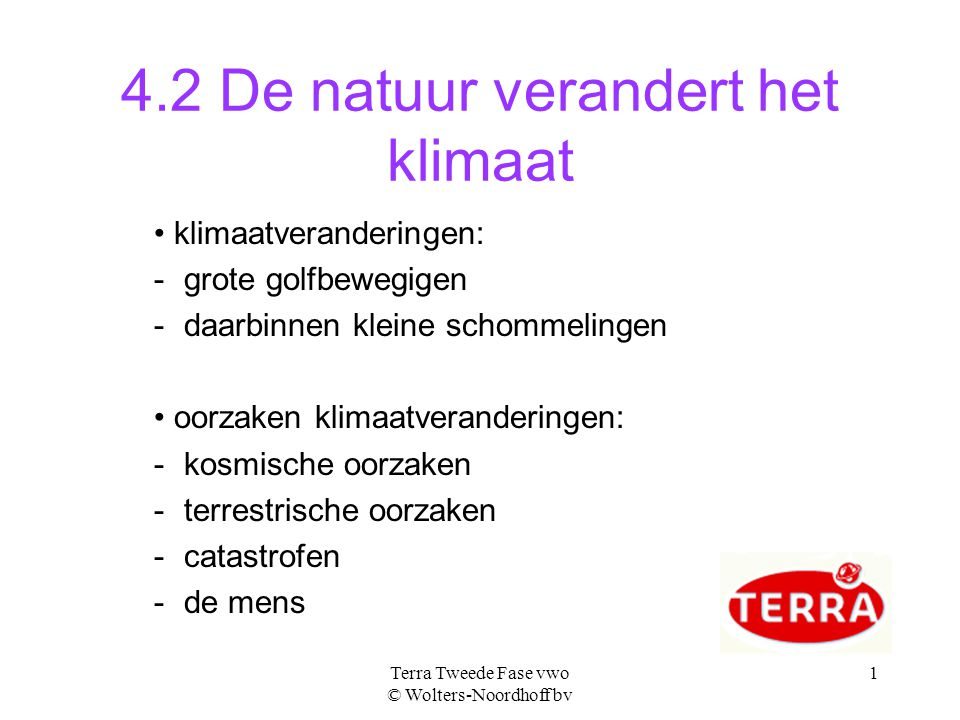 4.2 De natuur verandert het klimaat