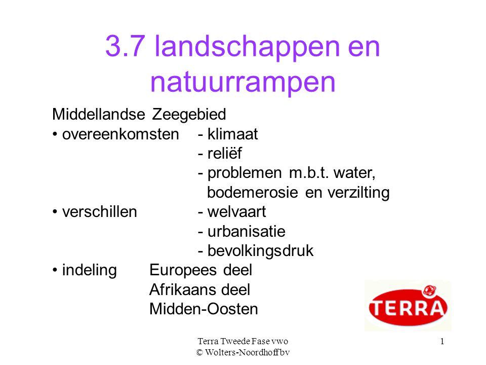 3.7 landschappen en natuurrampen