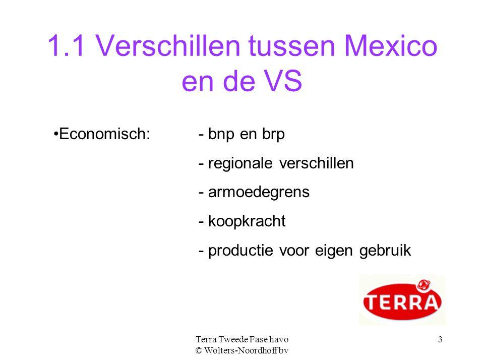 1.1 Verschillen tussen Mexico en de VS