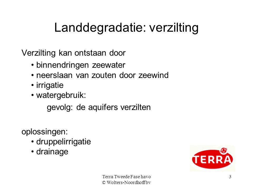 Landdegradatie: verzilting
