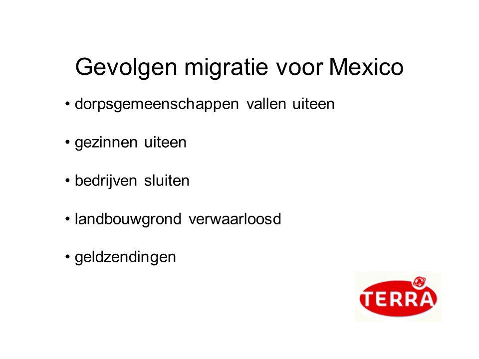 Gevolgen migratie voor Mexico