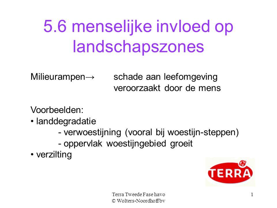 5.6 menselijke invloed op landschapszones