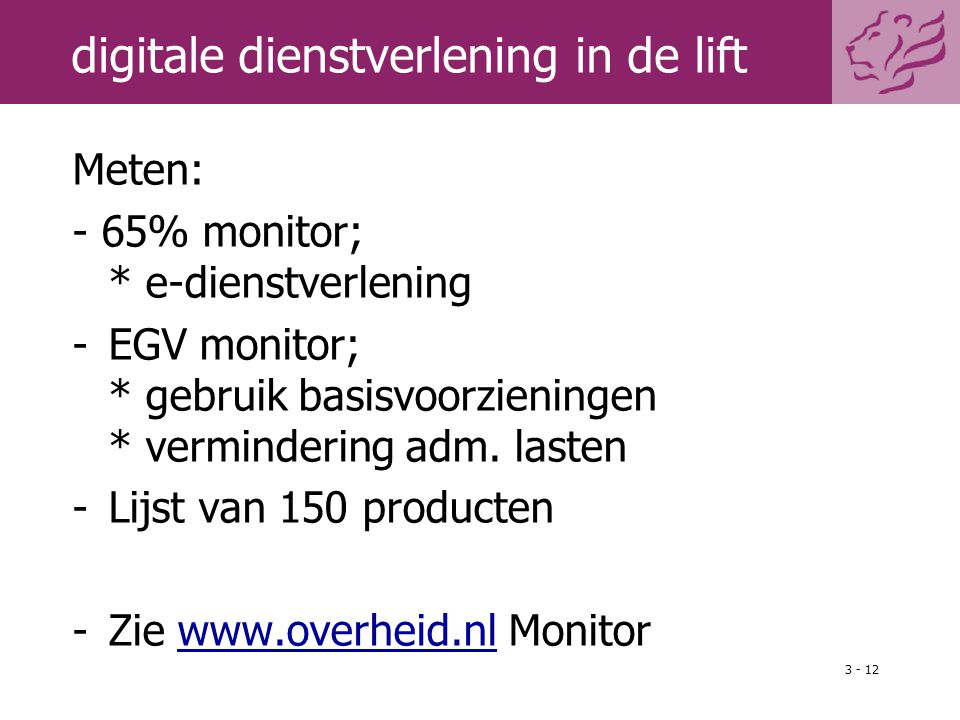 digitale dienstverlening in de lift