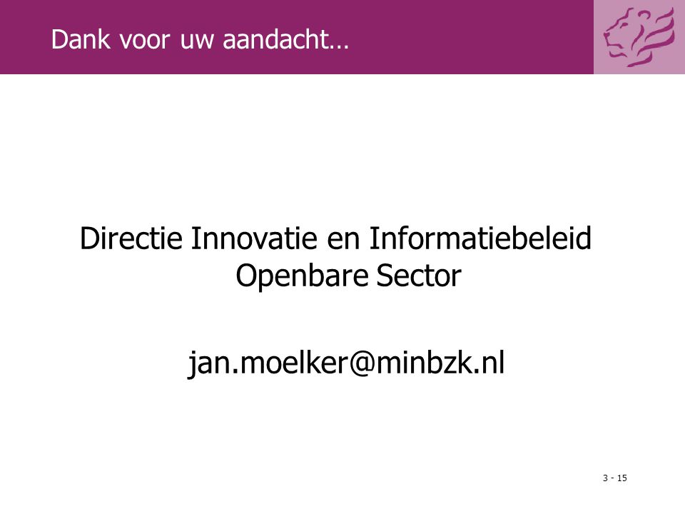 Directie Innovatie en Informatiebeleid Openbare Sector