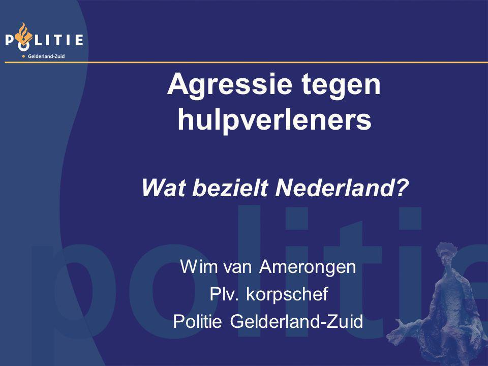 Agressie tegen hulpverleners Wat bezielt Nederland