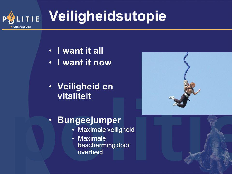 Veiligheidsutopie I want it all I want it now Veiligheid en vitaliteit
