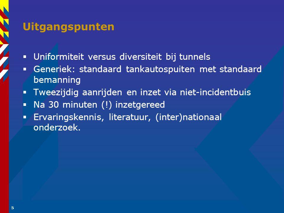 Uitgangspunten Uniformiteit versus diversiteit bij tunnels