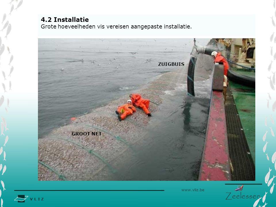 4.2 Installatie Grote hoeveelheden vis vereisen aangepaste installatie.