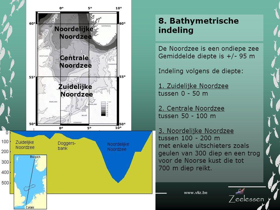 8. Bathymetrische indeling