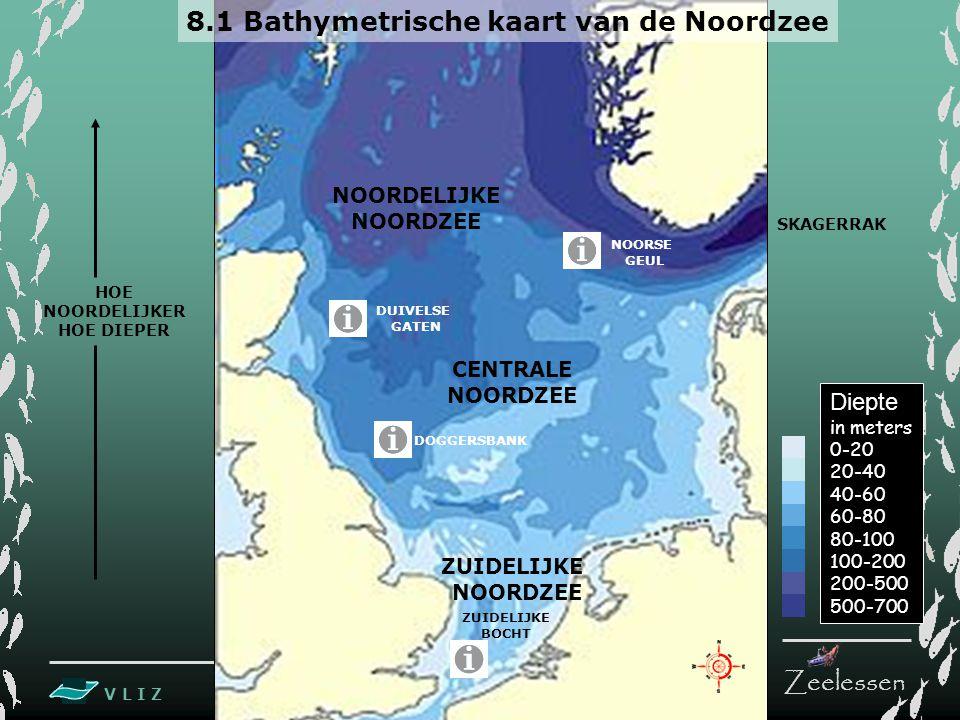 8.1 Bathymetrische kaart van de Noordzee