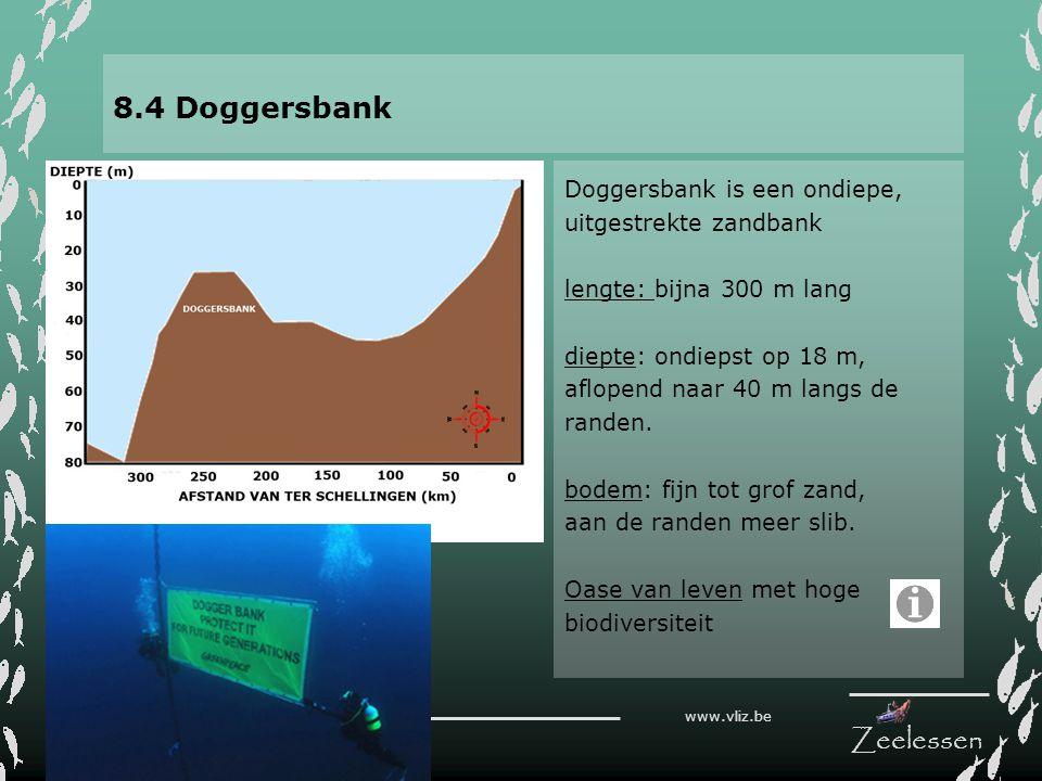 8.4 Doggersbank Doggersbank is een ondiepe, uitgestrekte zandbank