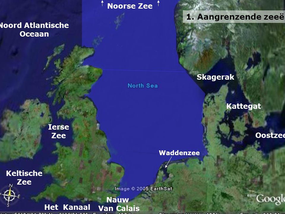 1. Aangrenzende zeeën Noorse Zee Noord Atlantische Oceaan Skagerak