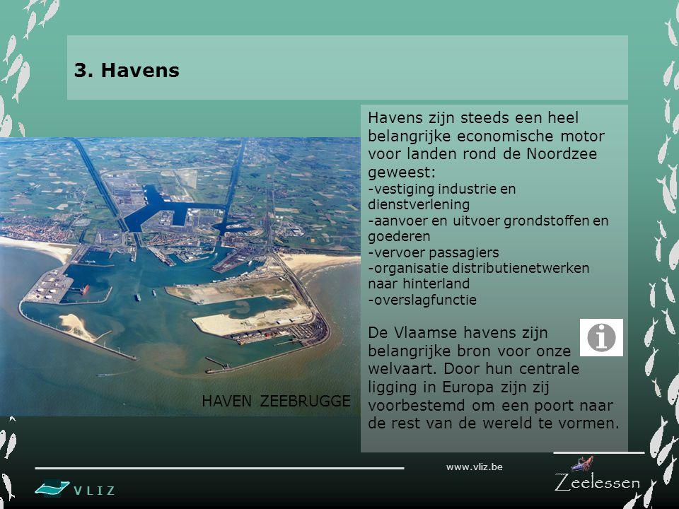 3. Havens Havens zijn steeds een heel belangrijke economische motor voor landen rond de Noordzee geweest: