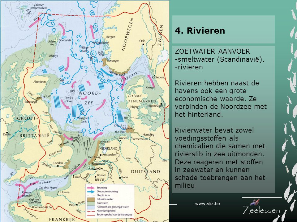 4. Rivieren ZOETWATER AANVOER -smeltwater (Scandinavië). -rivieren