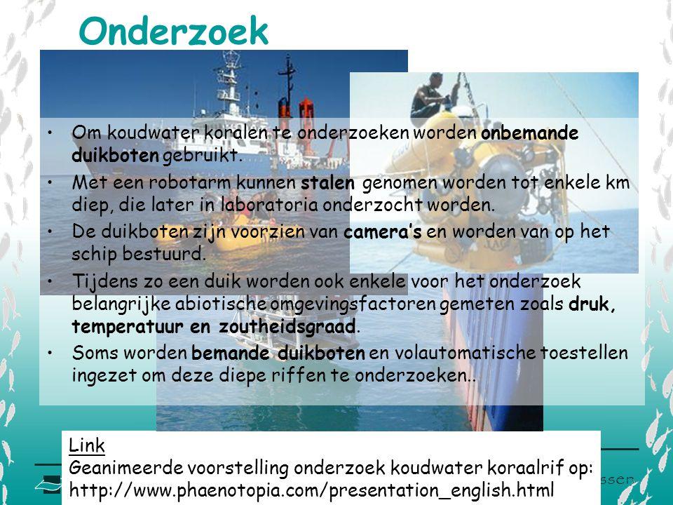 Onderzoek Om koudwater koralen te onderzoeken worden onbemande duikboten gebruikt.