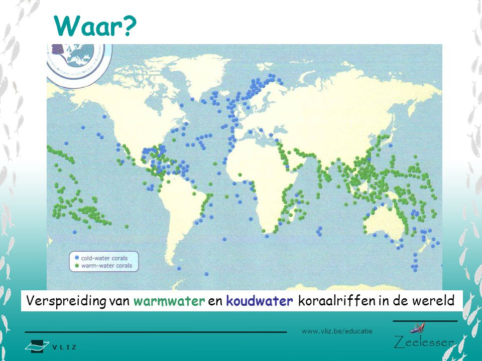 Waar www.eu-hermes.net Verspreiding van warmwater en koudwater koraalriffen in de wereld